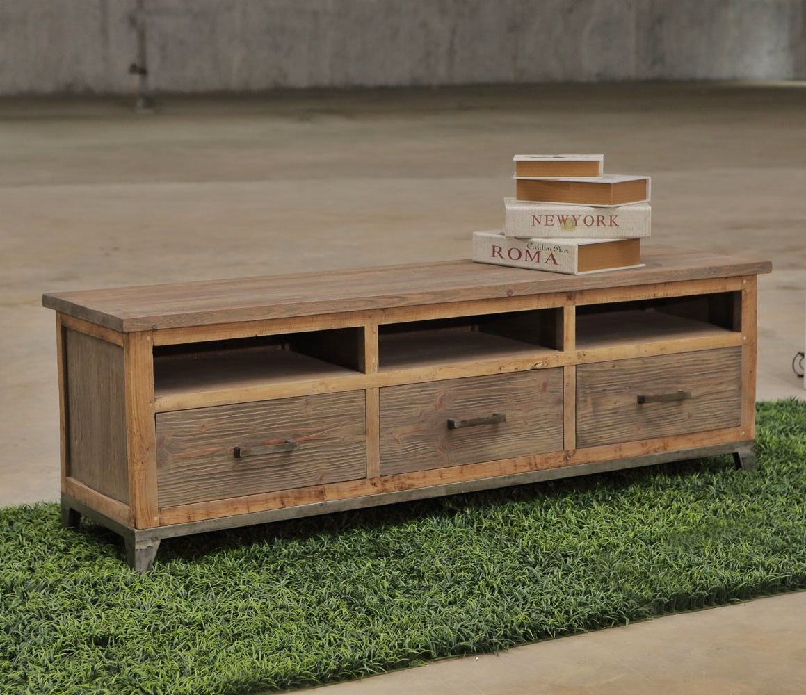 Recycled wood furniture TV Cabinet PFCS-09