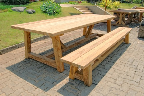 recycled teak furniture - dining table PFOT-13
