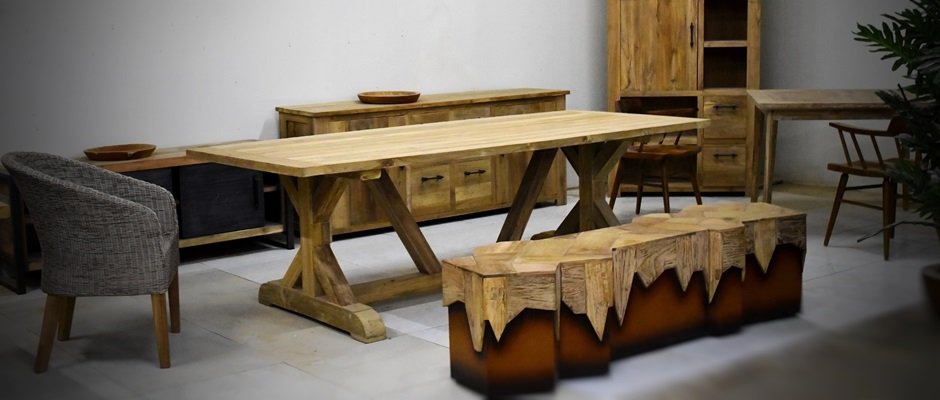 Indonesian Reclaimed Recycled Teak Wood  Boat Furniture Manufacture